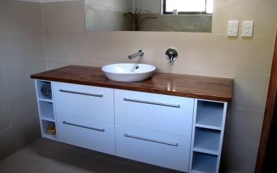 Custom bathroom vanities made to order.