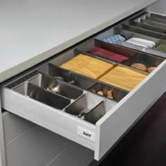 Cutlery drawer options.
