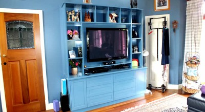 Custom designed entertainment unit