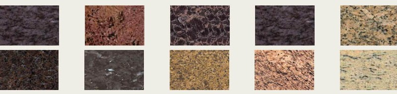 Granite benchtops have many textures and colour variations.