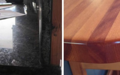 The wonderful qualities of natural granite and solid timber benchtops.