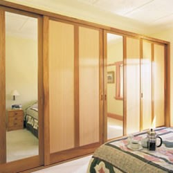 Framed sliding robe doors