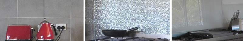 Splashbacks can become a feature of the kitchen.