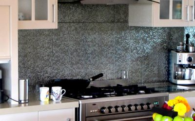 Textured splashbacks