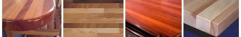 Solid wood benchtops can come in amazing grains, colours and styles.