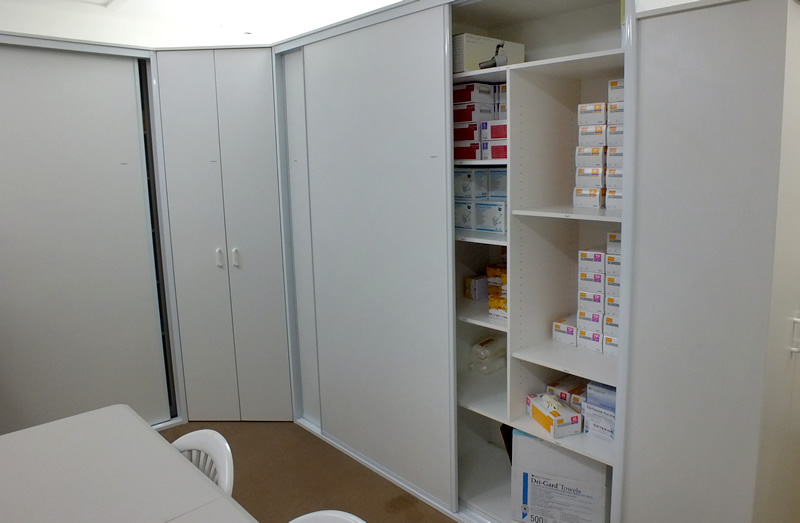 custom office storage cabinets and systems
