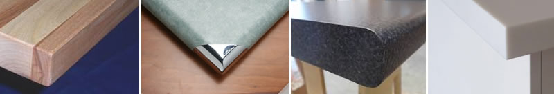 benchtop corners and edges