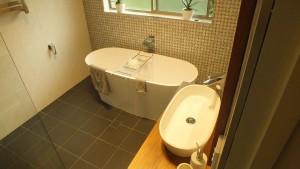 bathroom renovation complete